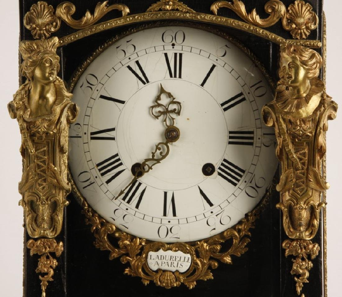 """19th c. French bronze mounted mantel clock, 30""""h - 3"""