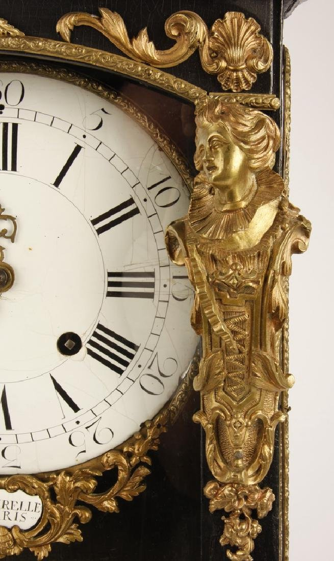 """19th c. French bronze mounted mantel clock, 30""""h - 5"""