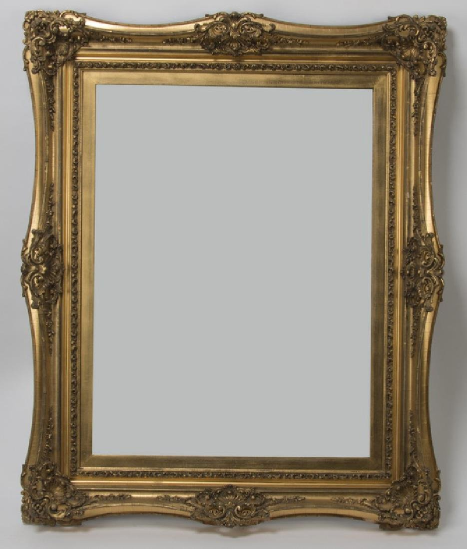 """Rococo style carved gilt wood frame, 40"""" x 50"""""""