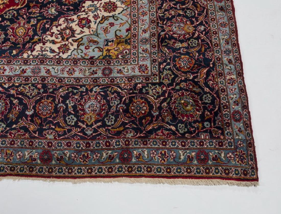 Hand knotted Persian Kashan wool carpet, 10 x 15 - 3