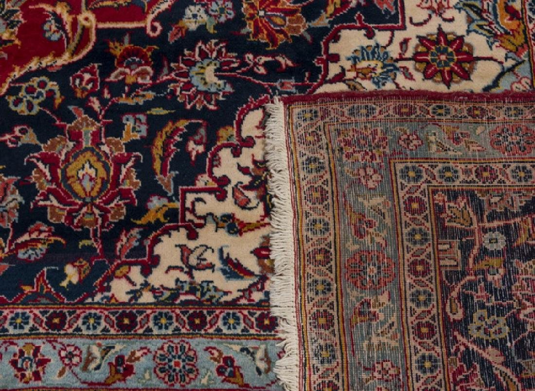 Hand knotted Persian Kashan wool carpet, 10 x 15 - 4