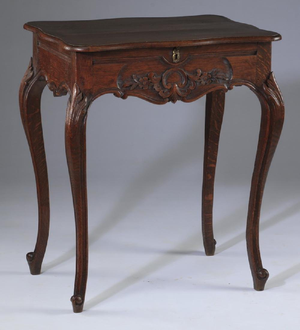 French Provincial walnut side table, 19th c.