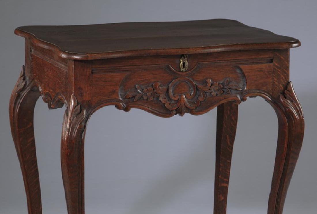 French Provincial walnut side table, 19th c. - 2