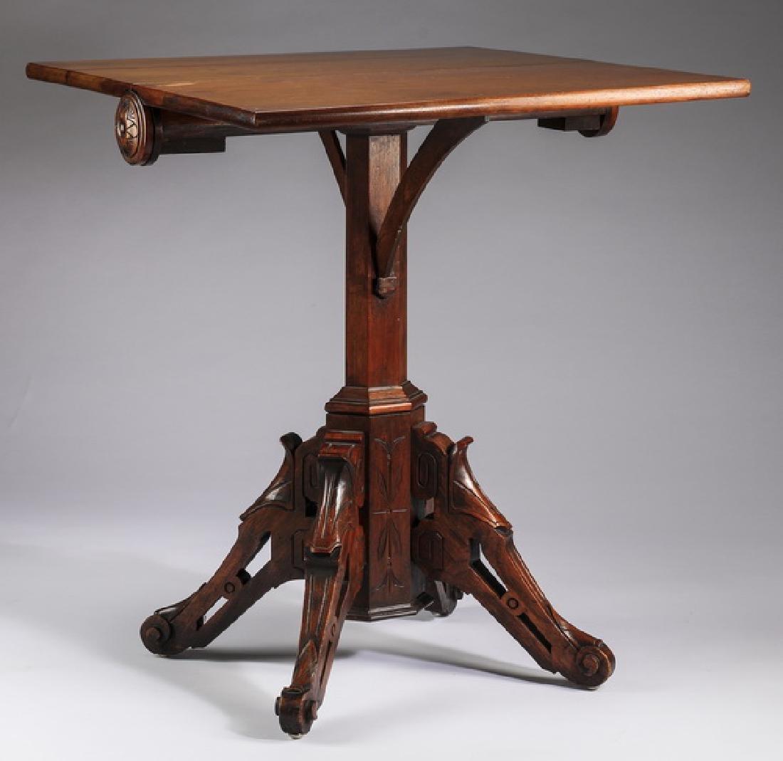 "Eastlake drop leaf side table, 19th c., 30""h"