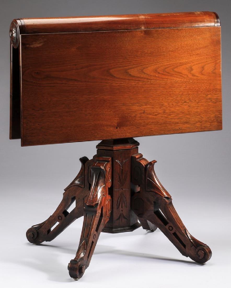 "Eastlake drop leaf side table, 19th c., 30""h - 2"