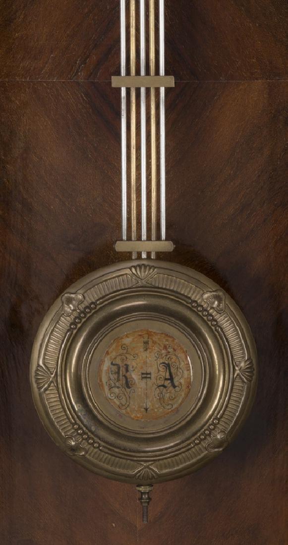 "19th c. mahogany regulator clock, 49""h - 4"