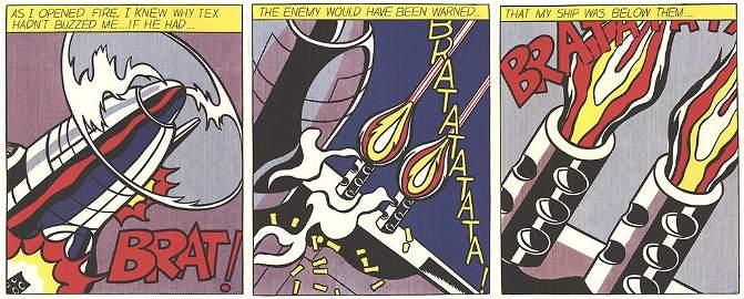 1964 Lichtenstein As I Opened Fire (Triptych)