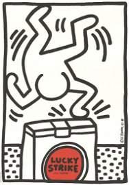 1987 Haring Lucky Strike Serigraph