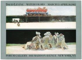 1982 Levine Forum Gallery Poster