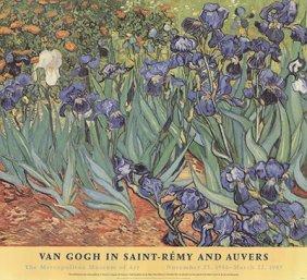 1999 Van Gogh Irises Poster
