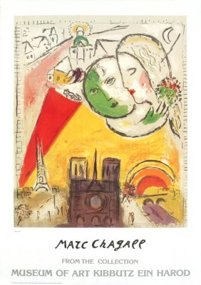 Chagall Paris View Poster