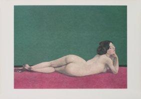 Vallotton Reclining Nude Female Poster