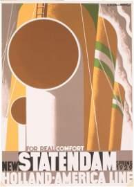 1995 Cassandre Statendam Lithograph