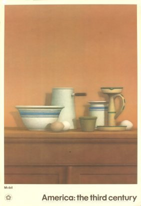 1976 Bailey Eggs, Candlestick And Bowl Poster