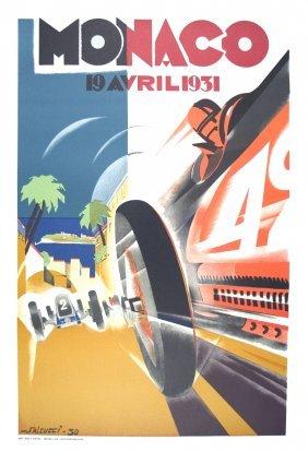 Falcucci Monaco Grand Prix 1931 Lithograph