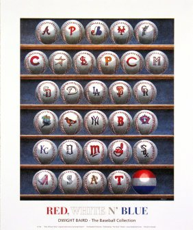 1995 Baird Red, White N' Blue Poster
