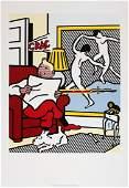 1994 Lichtenstein Tintin Reading Poster