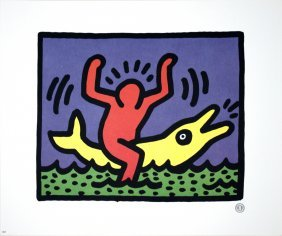 1992 Haring Untitled Poster