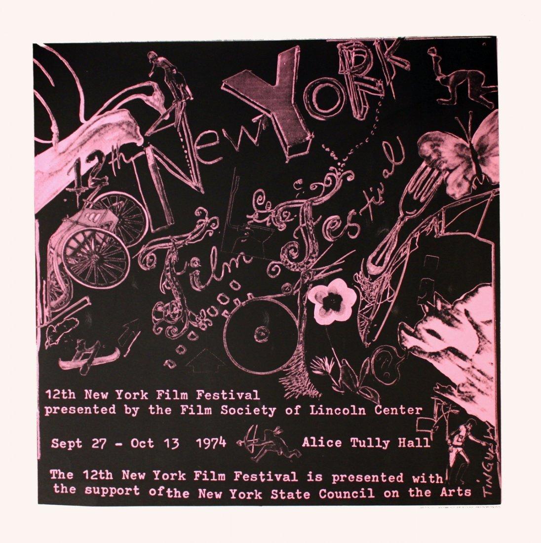 1974 Tinguely 12th NY Film Festival Serigraph