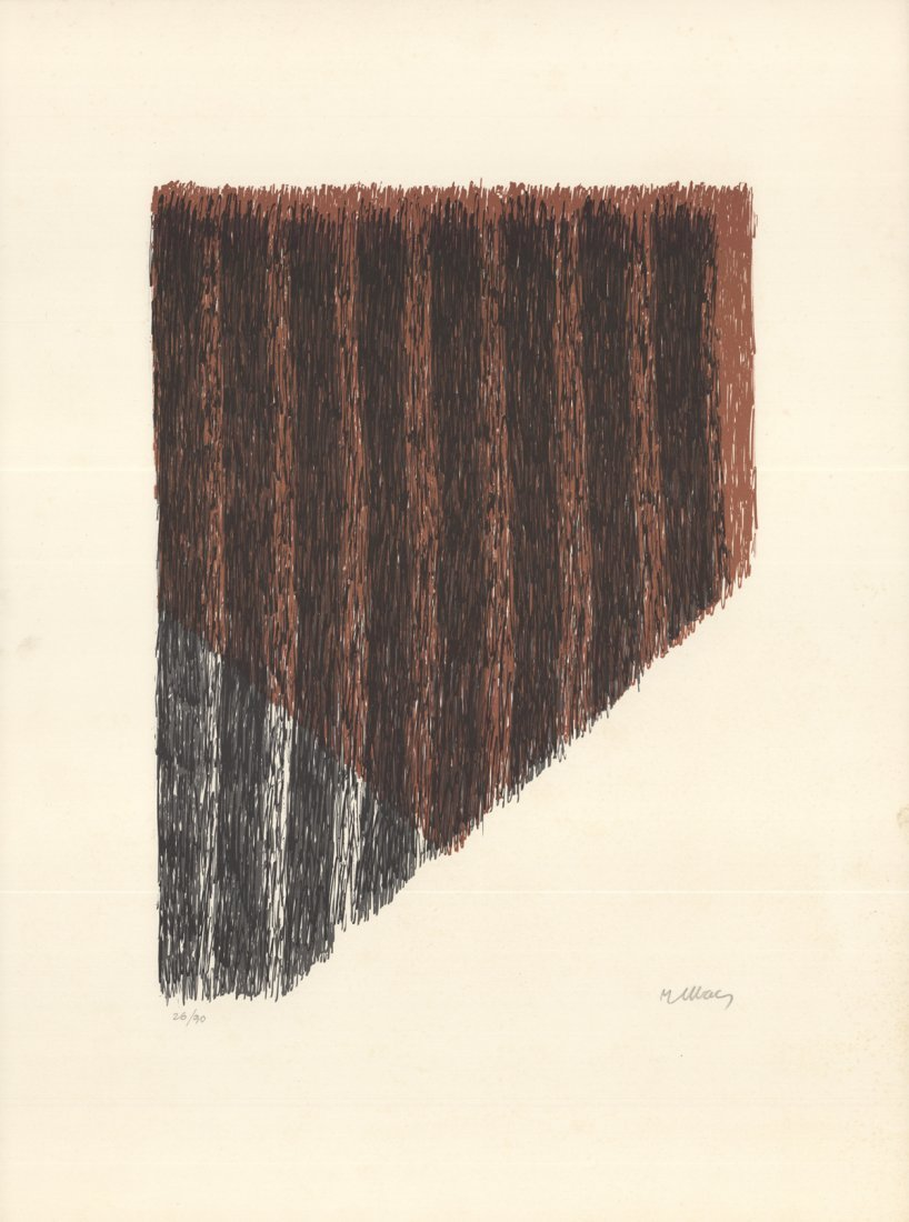 Signed Ubac Abstract Compostion Lithograph