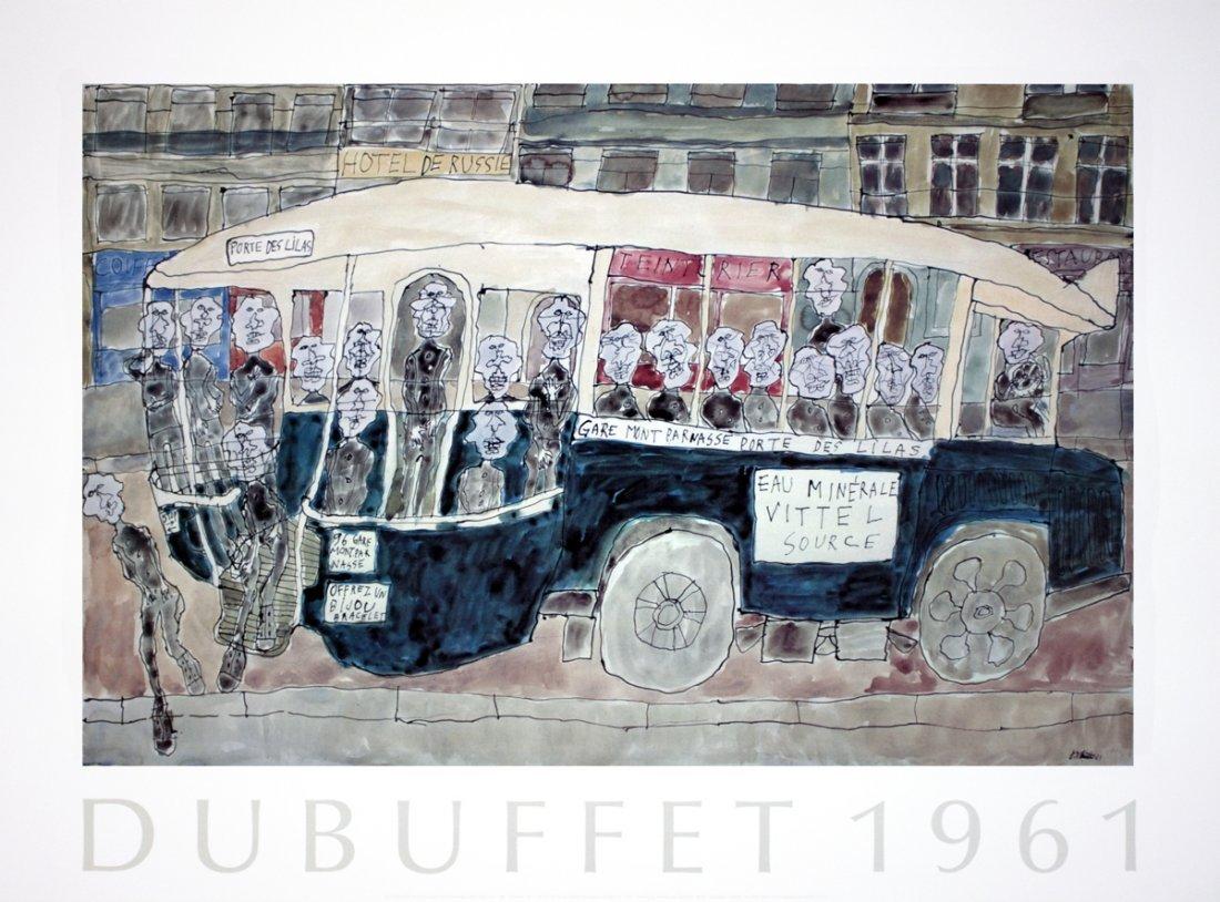 1990 Dubuffet Autobus Gare Montparnasse Poster