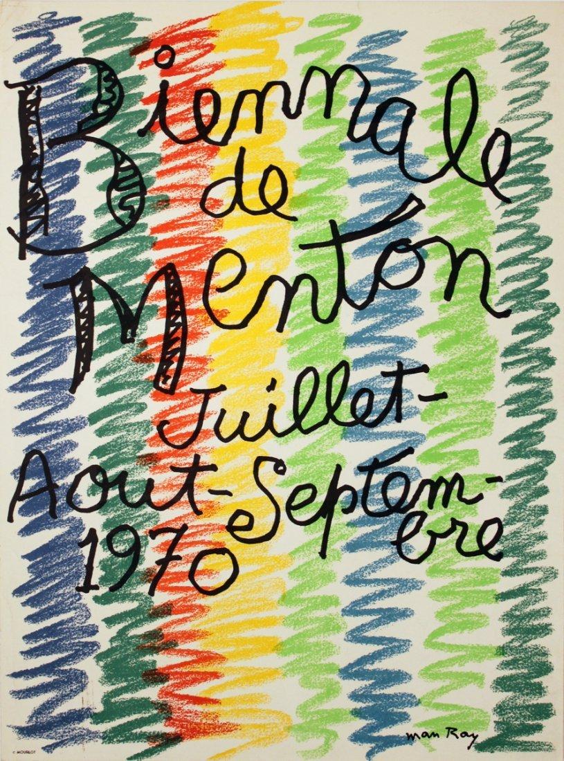 1970 Man Ray Biennale de Menton Mourlot Litho