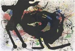 1973 Miro Derriere le Miroir 203 pg 10,11 Litho