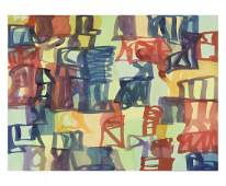 Signed 2008 Meyer Small Abstract Serigraph