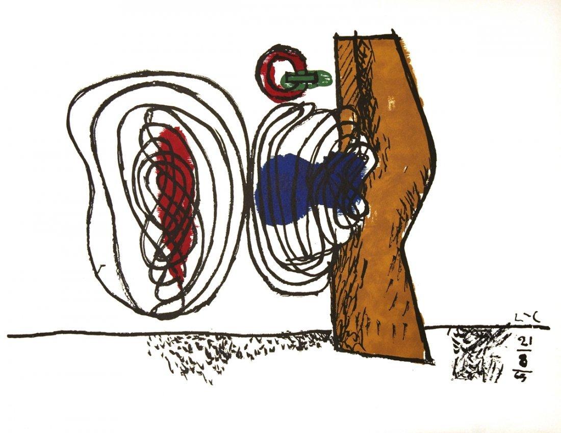 1963 Le Corbusier Untitled Mourlot Lithograph