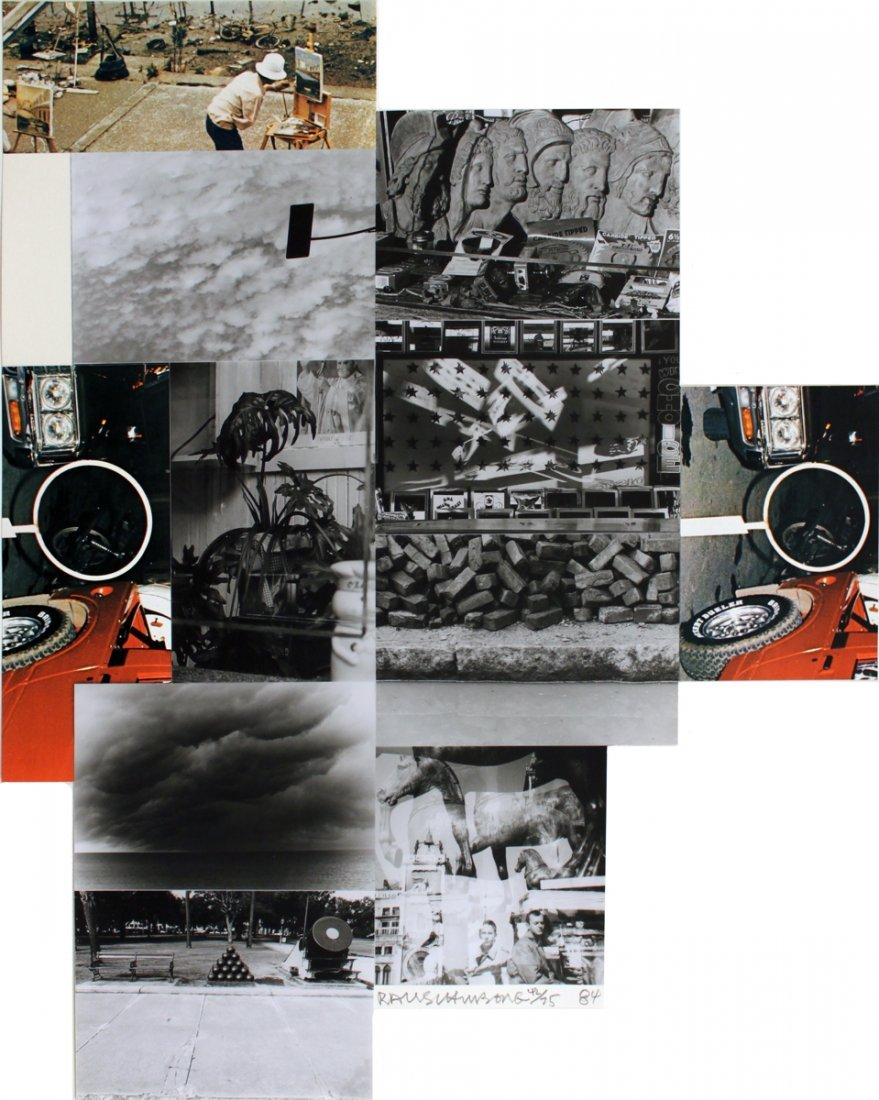 Signed 1984 Rauschenberg Untitled Mixed Media