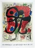 1993 Miro Lezard Aux Plumes D'or Mourlot Litho