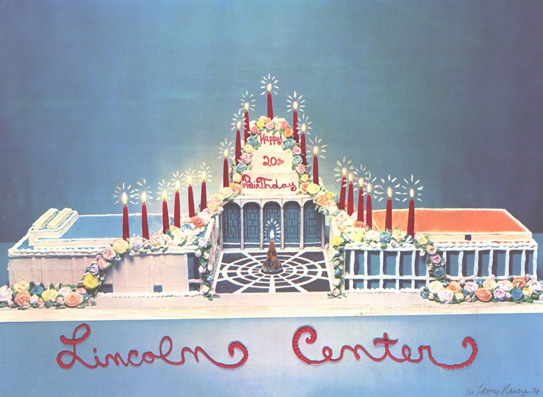 Signed 1979 Rivers Lincoln Center Offset Litho
