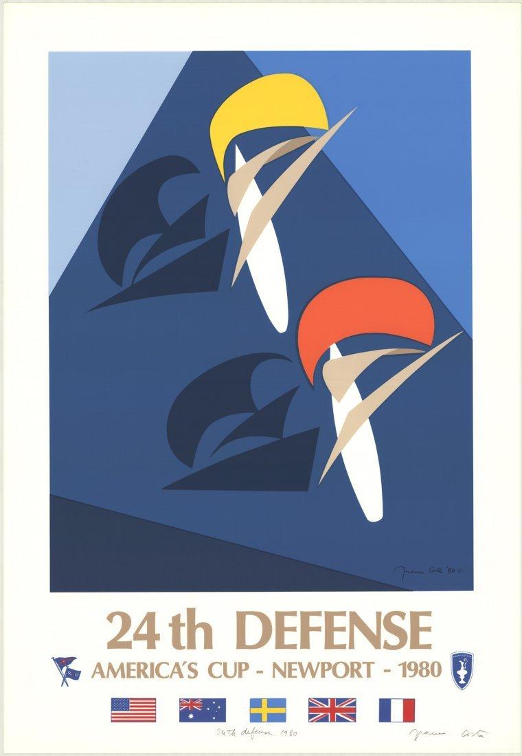 Signed 1980 Costa 24th Defense-Newport Serigraph