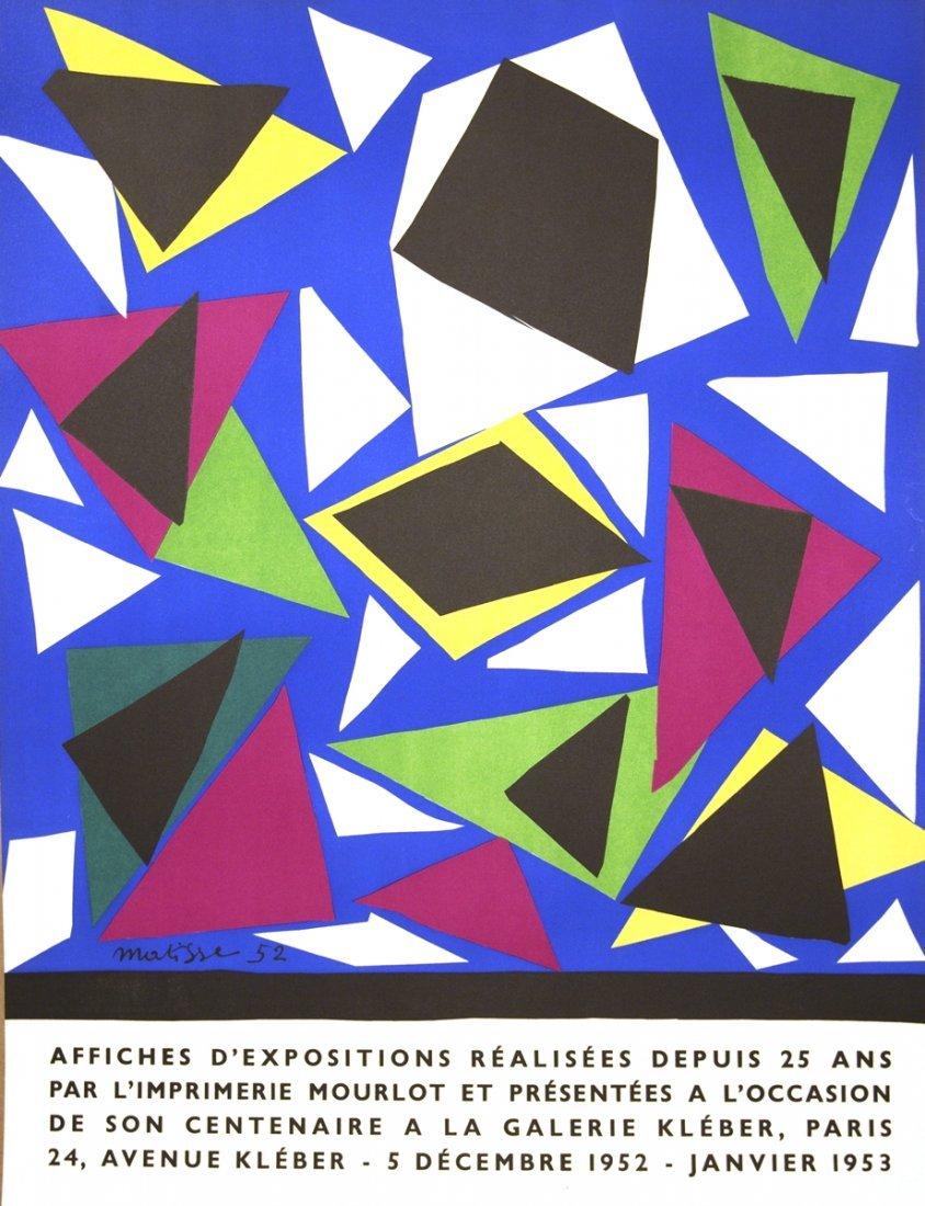 1952 Matisse Affiches d'exposition Mourlot Litho