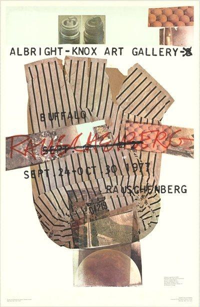 1976 Rauschenberg Albright-Knox Gallery Poster
