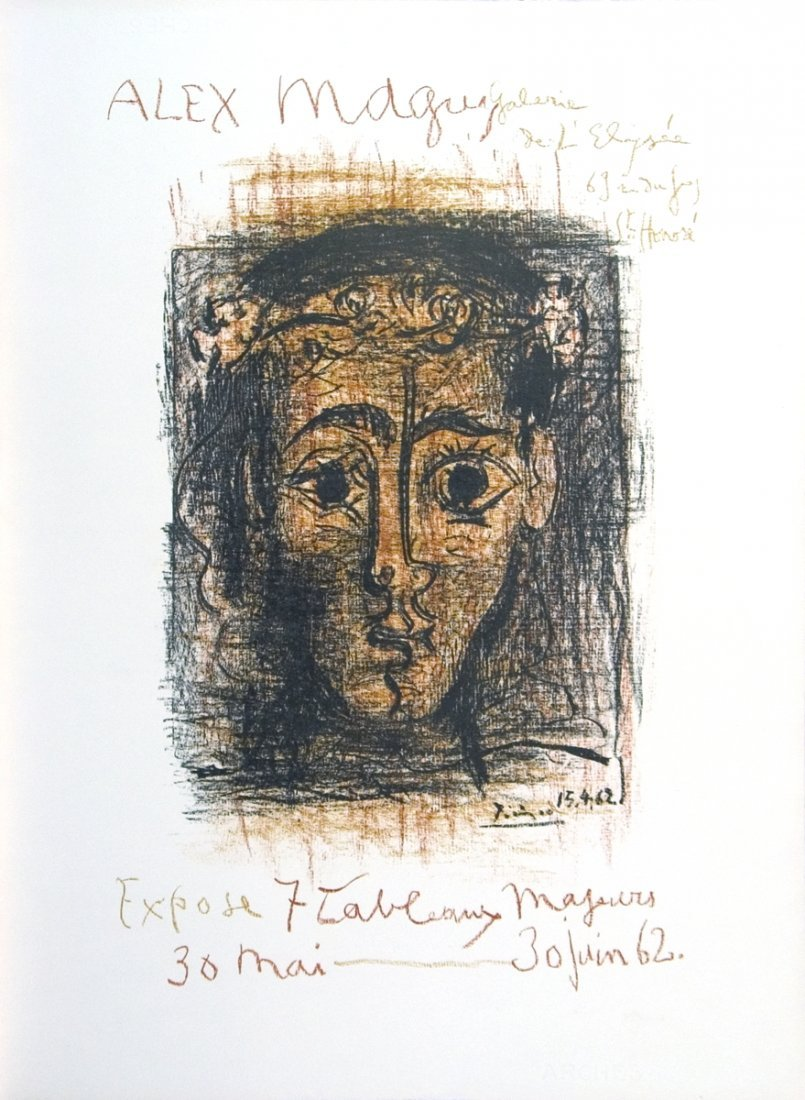 1962 Picasso Alex Maguy Gallery Mourlot Litho