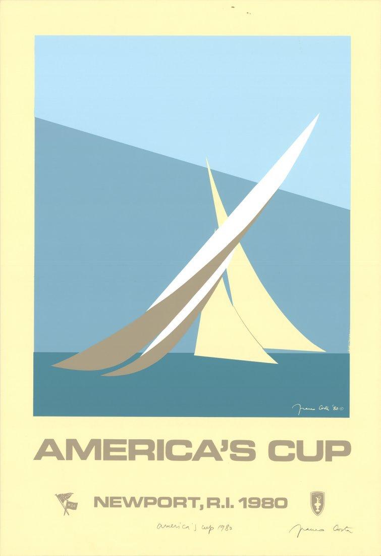 Signed 1980 Costa America's Cup Serigraph