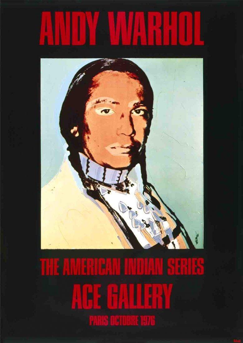 1976 Warhol American Indian (Black) Poster