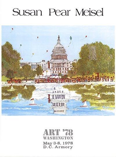 1978 Meisel Art '78 Washington Poster