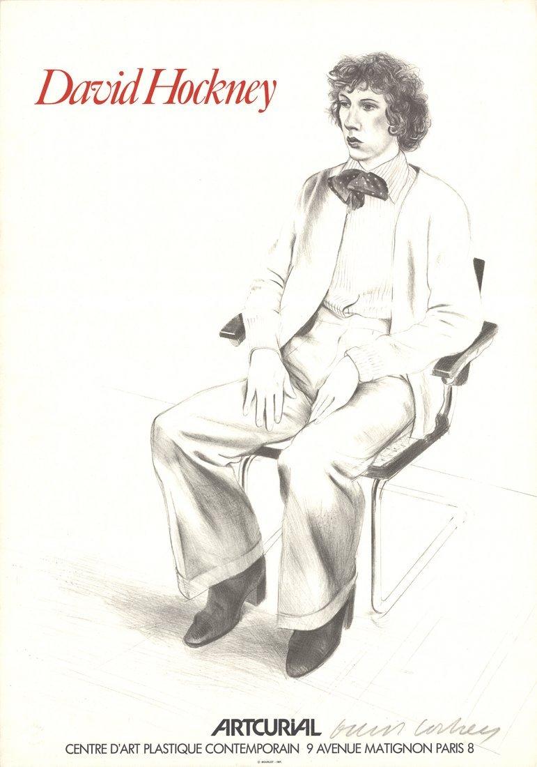 Signed 1979 Hockney Artcurial, Gregory Evans