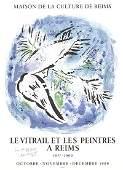 Signed 1969 Chagall Le Vitrail et Les Peintres