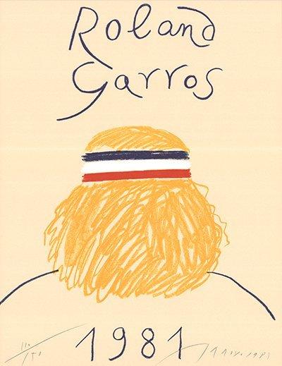 Signed 1981 Arroyo Roland Garros Offset Litho
