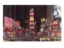 Ken Keeley - Times Square Night, New York -SIGNED