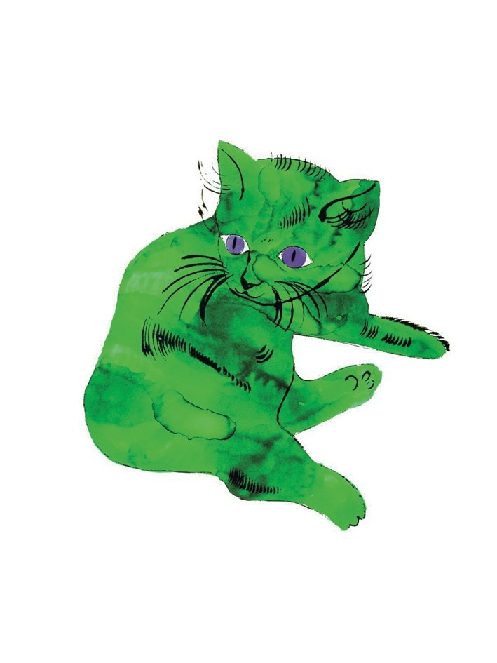 Andy Warhol - Cat (Green) - 2000