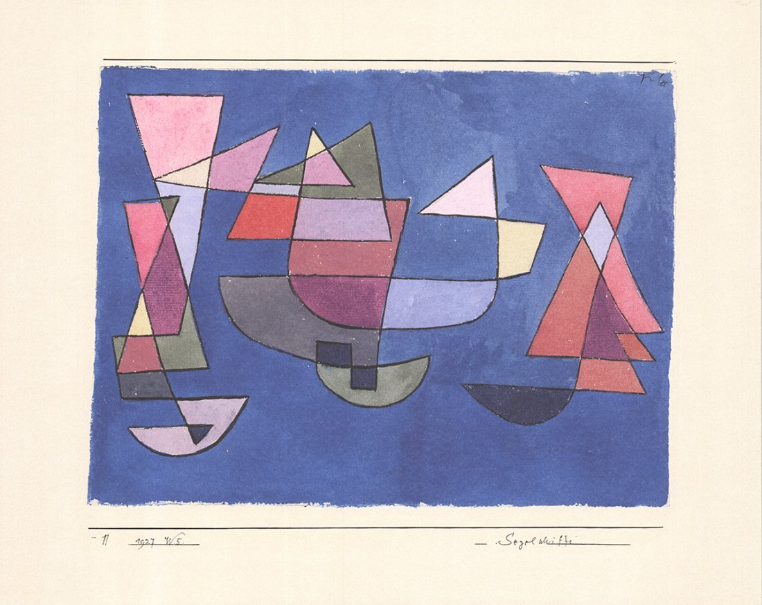 Paul Klee - Sailboats