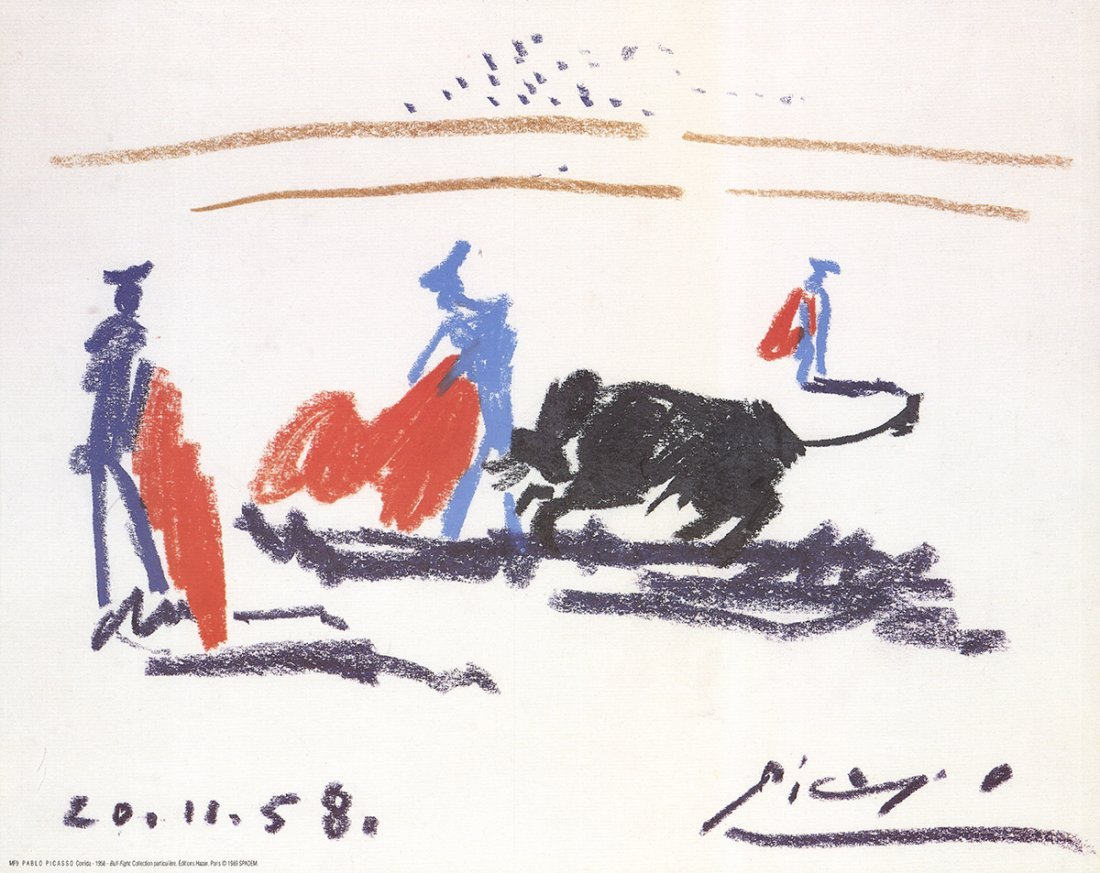 Pablo Picasso - Bull Fight - 1989