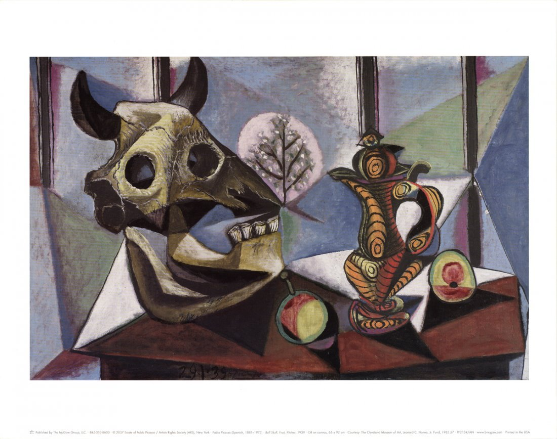 Pablo Picasso - Bull Skull, Fruit, Pitcher