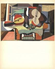 Pablo Picasso - Mandolin and Guitar - 1958