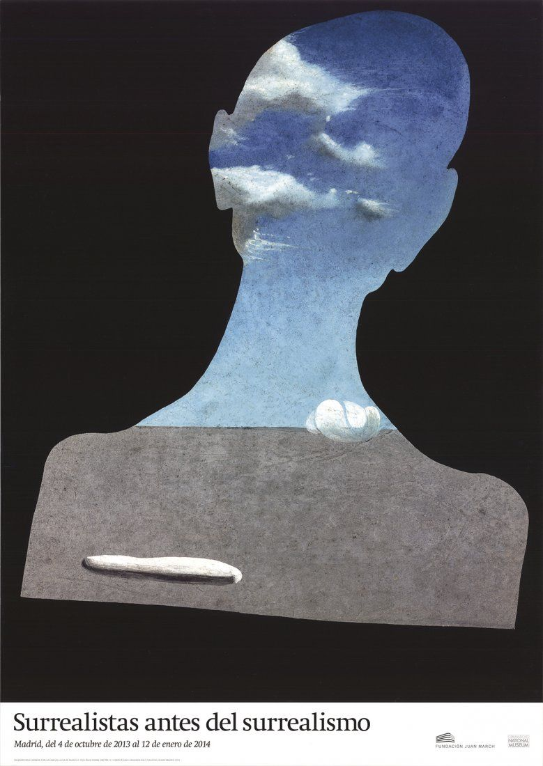 Salvador Dali - Man with a Head Full of Clouds