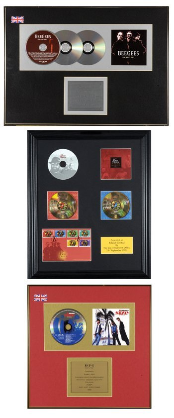 5: BEE GEES gold discs (2) Ltd Ed stamps